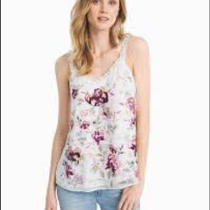 White House Black Market floral cami